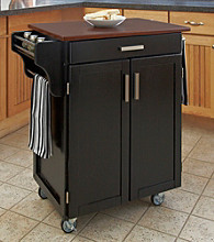Homestyles® Black Finish Gourmet Cart