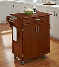 Homestyles® Warm Oak Finish Gourmet Cart