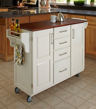 Homestyles® White Finish Build-a-Cart with Drawers