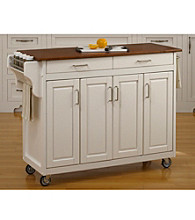 Homestyles® White Finish Build-a-Cart with Doors