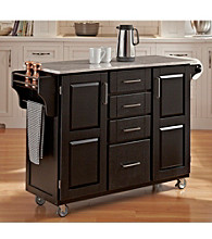 Homestyles® Black Finish Build-a-Cart with Drawers