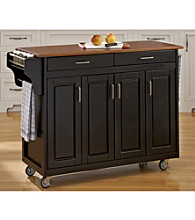 Homestyles® Black Finish Build-a-Cart with Doors