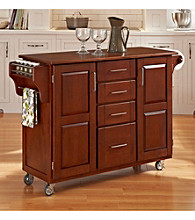 Homestyles® Warm Oak Finish Build-a-Cart with Drawers
