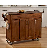 Homestyles® Warm Oak Finish Build-a-Cart with Doors