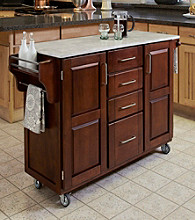 Homestyles® Cherry Finish Build-a-Cart with Drawers