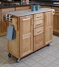 Homestyles® Natural Finish Build-a-Cart with Drawers