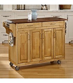 Homestyles® Natural Finish Build-a-Cart  with Doors