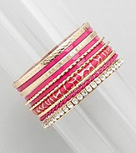 Erica Lyons® Bracelet Bangle Stack