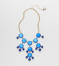 Erica Lyons® Goldtone Blue Preppy Chic Necklace
