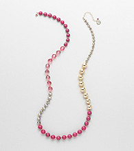 Erica Lyons® Pink Shockwave Necklace