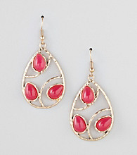 Erica Lyons® Pink Shockwave Pierced Earrings