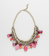 Erica Lyons® Warm Multi Colorblock Short Necklace