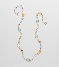 Lauren Ralph Lauren 14K Gold Plated Semi-Precious Multi Bead Necklace