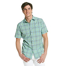 John Bartlett Consensus Men's Fusion Papaya Short Sleeve Madras