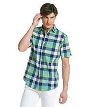 John Bartlett Consensus Men's Ocean Breeze Short Sleeve Madras