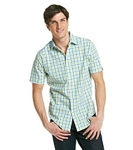 John Bartlett Consensus Men's Lime Chic Short Sleeve Seersucker Woven Shirt