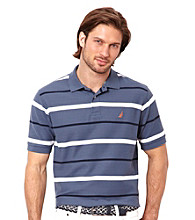 Nautica® Men's Short Sleeve Stripe Deck Polo