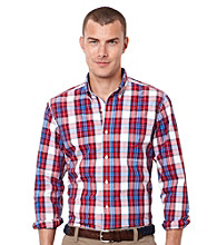 Nautica® Men's Tango Red Long Sleeve Poplin Woven