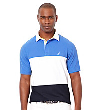 Nautica® Men's French Blue Short Sleeve Pieced Polo