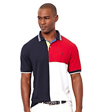 Nautica® Men's Navy Colorblock Short Sleeve Polo