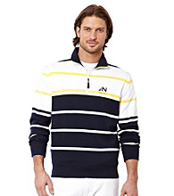 Nautica® Men's Navy Long Sleeve Quarter-Zip Knit Shirt
