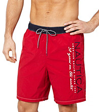Nautica® Men's Tango Red Colorblock Swim Trunk