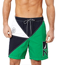 Nautica® Men's Parrot Green Colorblock Swim Short