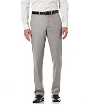 Perry Ellis® Men's Pewter Heather Textured Flat-Front Pant