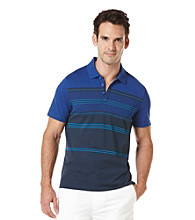 Perry Ellis® Men's Ink Short Sleeve Slub Stripe V-Neck Polo