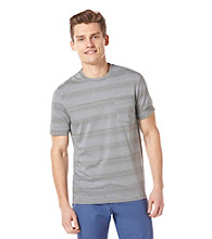 Perry Ellis® Men's Striped Short Sleeve Keystone Crewneck Tee