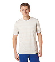 Perry Ellis® Men's Striped Stone Short Sleeve Crewneck Tee