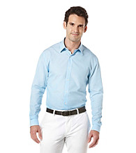 Perry Ellis® Men's Azzuro Long Sleeve Irridescent Woven