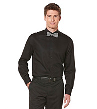 Perry Ellis® Men's Black Long Sleeve Varigated Stripe Woven