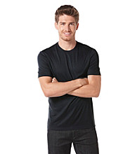 Perry Ellis® Men's Black Short Sleeve Luxe Crewneck Tee