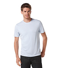 Perry Ellis® Men's Light Blue Short Sleeve Luxe Crewneck Tee