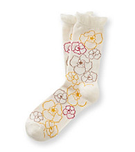 Relativity® Scalloped Floral Socks