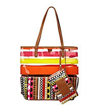 Nine West® Pink Multi Can't Stop Shopper Tall Large Tote - Stiletto/Stripe/Dot 9's