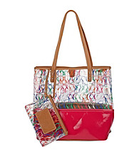 Nine West® Pink Multi Can't Stop Shopper Tall Large Tote - Stiletto