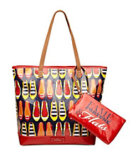 Nine West® Blue Multi Can't Stop Shopper Large Tote - Fame and Fortune Flats