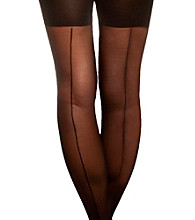 Skweez Couture™ by Jill Zarin Black Backseam Shaper Sheer Tights