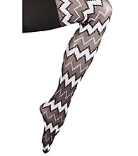 Skweez Couture™ by Jill Zarin Zig Zag Shaper Tights - Black