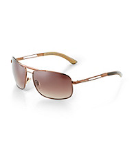 Calvin Klein® Men's Dark Brown Aviator Sunglasses