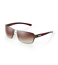 Calvin Klein® Men's Dark Brown Square Sunglasses