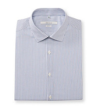 Perry Ellis Portfolio® Men's Blue Dust Striped Slim Fit Dress Shirt