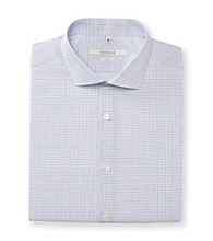 Perry Ellis Portfolio® Men's Blue Grid Slim Fit Dress Shirt