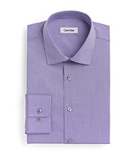 Calvin Klein® Men's Purple Check Spread Regular-Fit Long Sleeve Dress Shirt