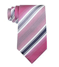 Kenneth Cole REACTION® Men's Berry Stripe Regular Width Tie
