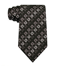 Kenneth Cole REACTION® Men's Black Vezzo Dot Regular Width Tie