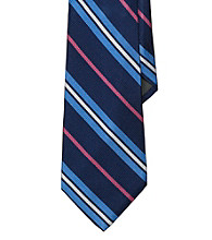 Lauren® Men's Navy Four-Color Striped English Repp Tie