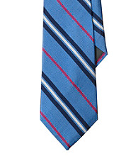 Lauren® Men's Blue Four-Color Striped English Repp Tie